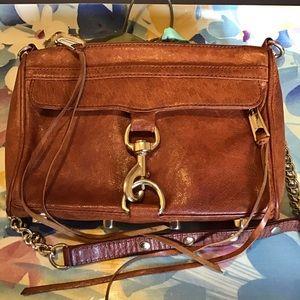 Rebecca Minkoff Distressed Brn Leather Crossbody